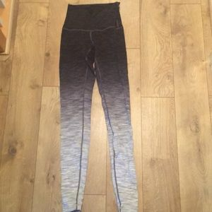 Lululemon wunder under ombré size 6 legging